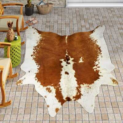 Bert Handmade Cowhide Beige/Brown Area Rug - AllModern