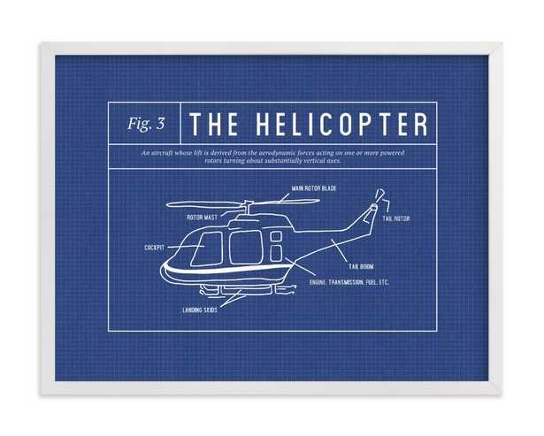 Helicopter Blueprint Children's Art Print - Minted