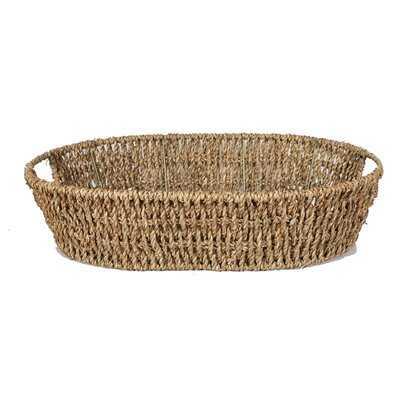 Sea Grass Tray Wicker Basket - Wayfair