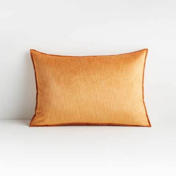 """Styria Amber 22""""x15"""" Pillow with Feather-Down Insert - Crate and Barrel"""