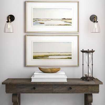 'Marshlands I' by Coggins - 2 Piece Picture Frame Print Set on Paper - Wayfair