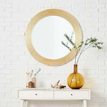 Nile Mirror, Round, Gold - West Elm