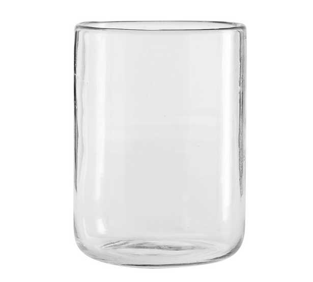 """Modern Glass Votive Candle Holder, Clear, Large, 5.5"""" - Pottery Barn"""