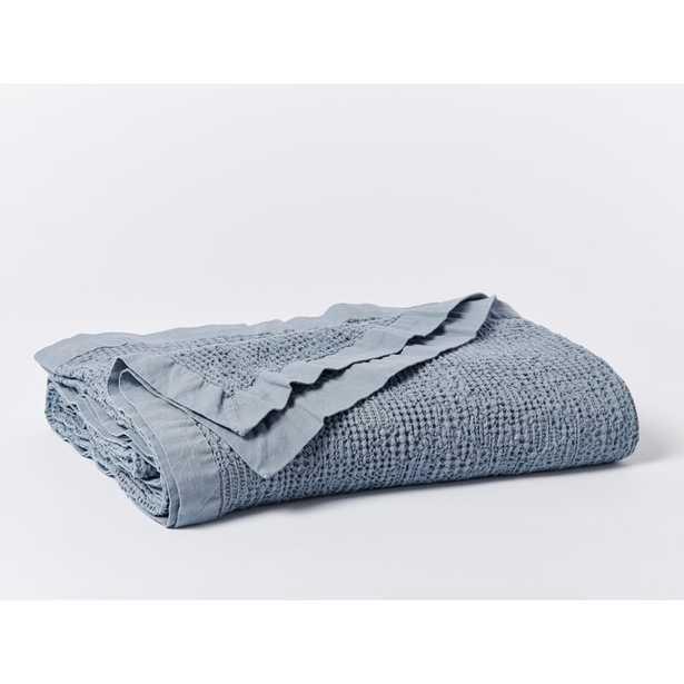 Coyuchi Reyes 100% Cotton Envelope Sham Size: Throw, Color: Steel Blue - Perigold