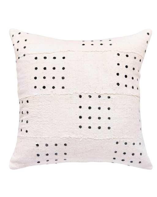dotted mud cloth pillow in white - cover only - PillowPia