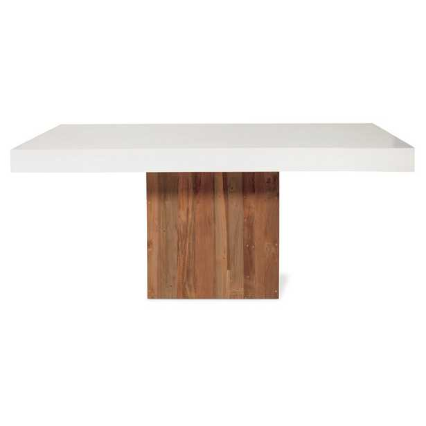 Seasonal Living Sparta Conrete Dining Table Table Top Color: Ivory White - Perigold