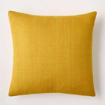 "Silk Hand-Loomed Pillow Cover, 20""x20"", Dark Horseradish - West Elm"