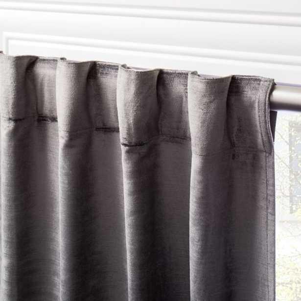 "Cotton Viscose Dark Grey Panel 48""x96"" - CB2"