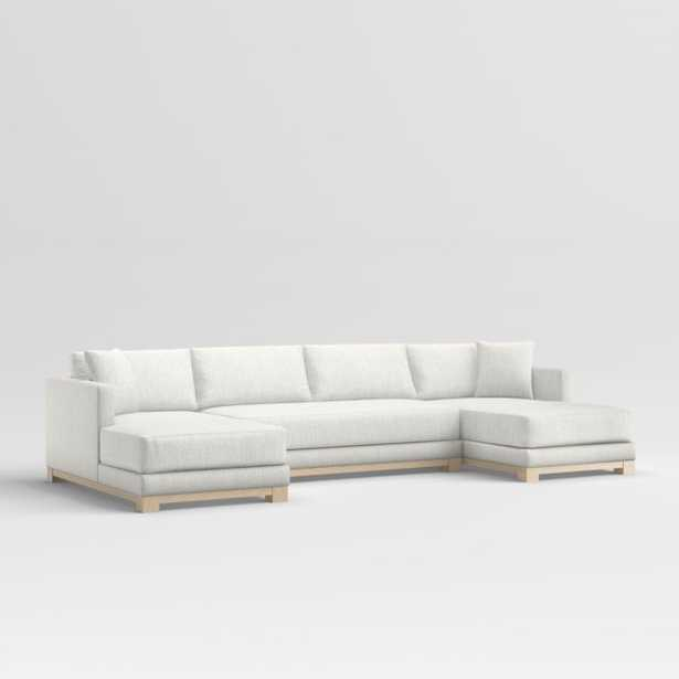 Gather Petite Wood Base 3-Piece U-Shaped Sectional - Crate and Barrel