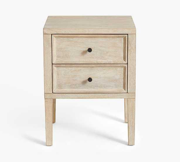 "Marla 17"" 2-Drawer Nightstand, White Wash - Pottery Barn"