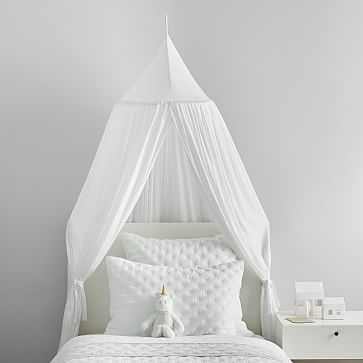 Modern Muslin Canopy, White, WE Kids - West Elm