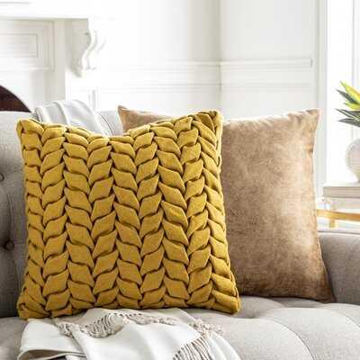 Amberlea Square Cotton Pillow Cover - Wayfair
