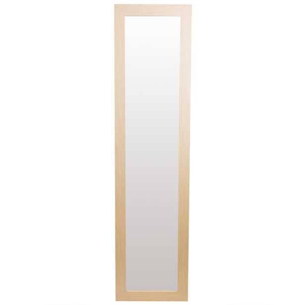 Home Basics Easel Back Rectangle Natural Floor Mirror - Home Depot