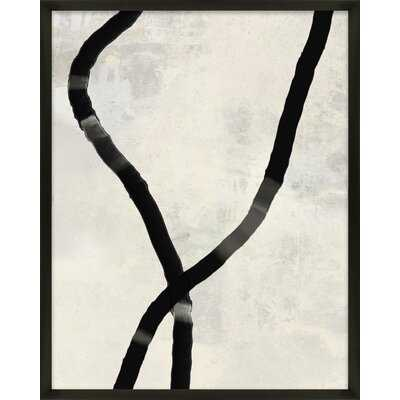 Black Rope 5 by Jacques Pilon - Picture Frame Print on Paper - AllModern