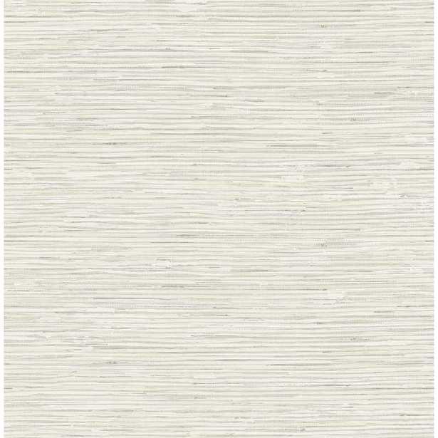 Seabrook Designs Silverton Metallic Gold, Grey, & Off-White Faux Grasscloth Wallpaper, Metallic Gold/ Grey/ & Off-White - Home Depot