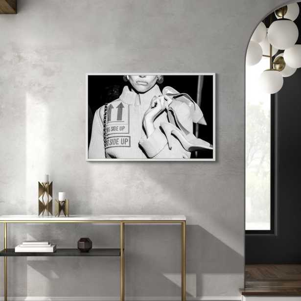 """This Side Up with White Frame/No Mat 40.5""""x27.5"""" - CB2"""