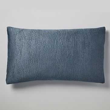 Silky TENCEL Cotton Matelasse Duvet, King Sham, Stormy Blue - West Elm