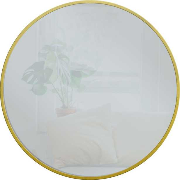 28 in. x 28 in. Round Gold Metal Mirror - Home Depot