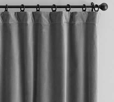 "Velvet Twill Curtain / 50 x 84"" / Flagstone - Pottery Barn"