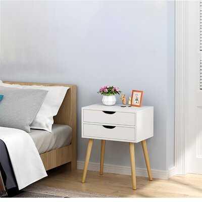 Storage Cabinet Bedroom Bedside Locker Double Drawer Nightstand - Wayfair