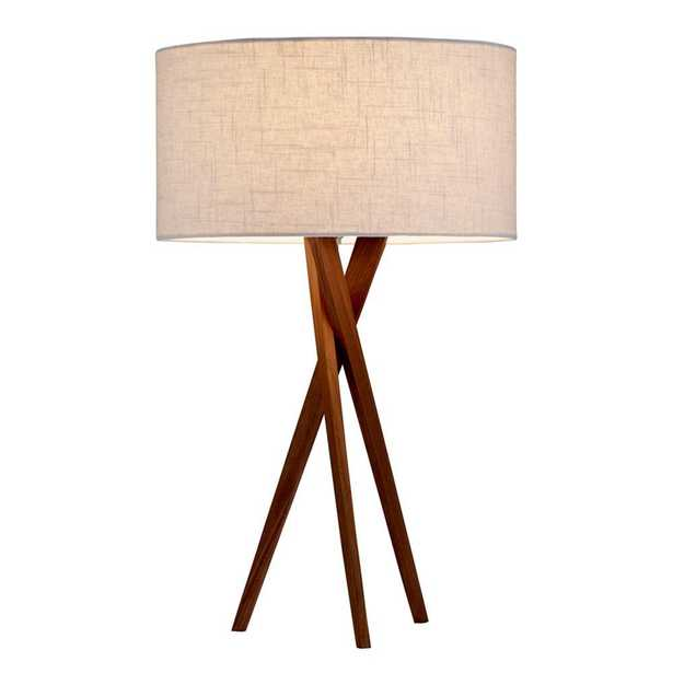 Adesso Brooklyn 25 in. Walnut Table Lamp - Home Depot