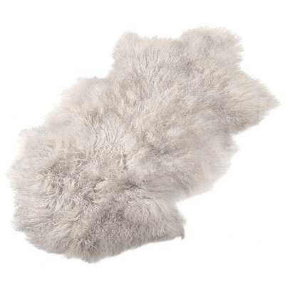 Mcroberts Handmade Sheepskin Gray Rug - Wayfair