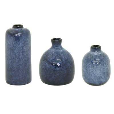 "Jolin Mini Vase (Set Of 3) 4.25""H, 4.75""H, 6.25""H Clay - Wayfair"