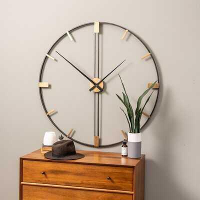 "Oversized Henderson 41"" Wall Clock - Wayfair"