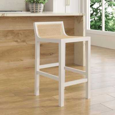 Barnhill Solid Wood And Natural Cane Stool - Wayfair