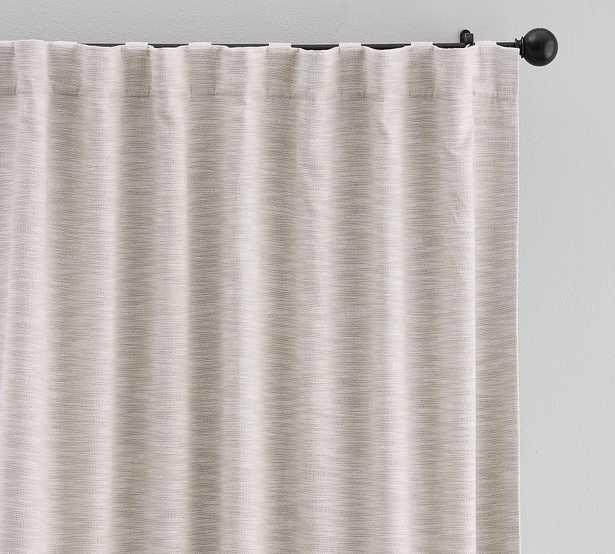 "Seaton Textured Cotton Rod Pocket Blackout Curtain, 50 x 84"", Neutral - Pottery Barn"