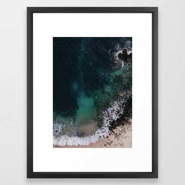 Ocean Blues Framed Art Print by Ingrid Beddoes Photography - Vector Black - MEDIUM (Gallery)-20x26 - Society6
