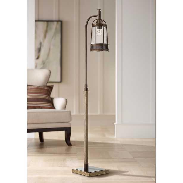 Hugh Bronze and Wood Downbridge Floor Lamp - Style # 79X91 - Lamps Plus