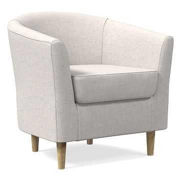 Mila Chair, Performance Coastal Linen, Stone White, Soft Wheat - West Elm