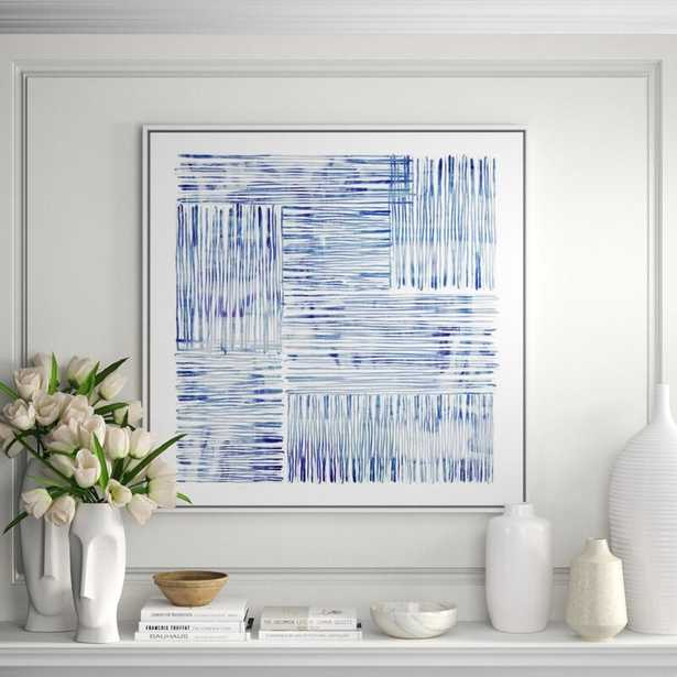 """JBass Grand Gallery Collection 'Between Lines' - Framed Graphic Art Print on Canvas Size: 41.75"""" H x 41.75"""" W x 1.5"""" D - Perigold"""