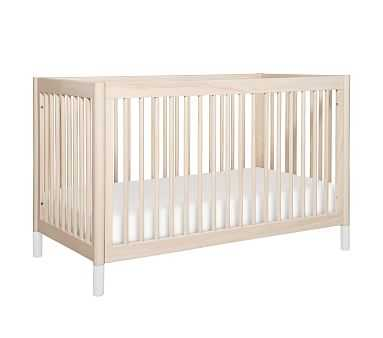 Babyletto Gelato 4-in-1 Convertible Crib, UPS, Washed Natural/White - Pottery Barn Kids