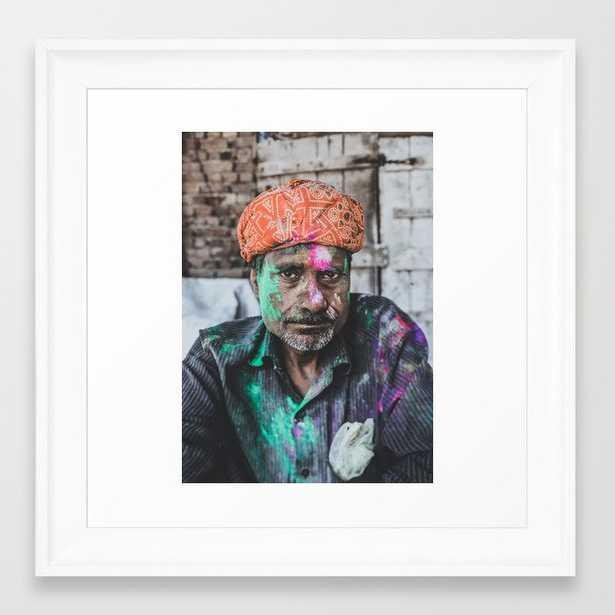 Vrindavan, India Iii Framed Art Print by Luke Gram - Scoop White - X-Small-12x12 - Society6