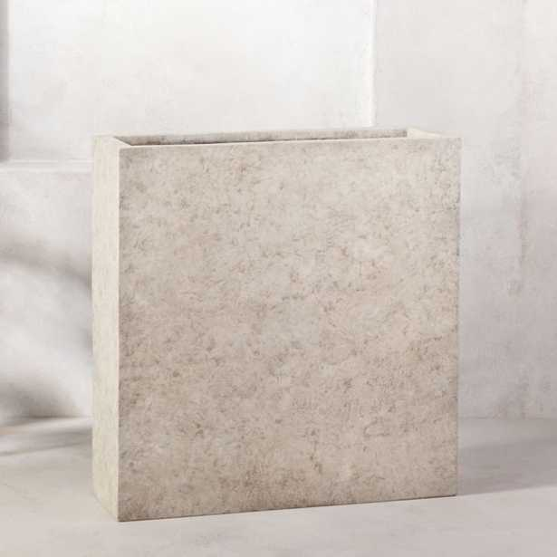 Ash Rectangular Concrete Planter Large - CB2