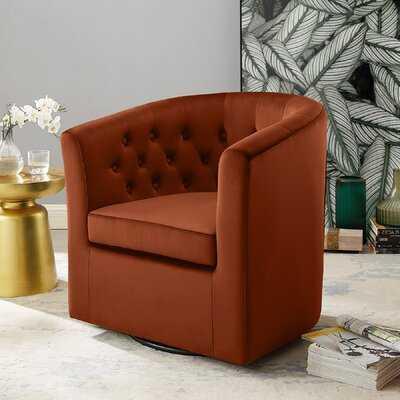Ailse Swivel Barrel Chair - Wayfair