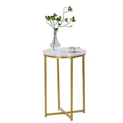 Brucker Marble Top Frame End Table - Wayfair