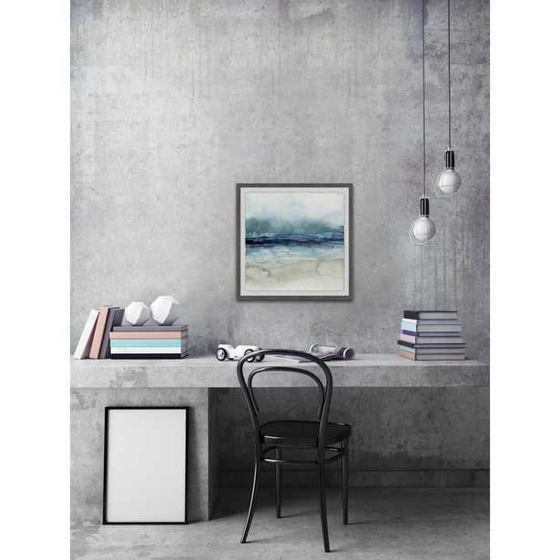 """32 in. H x 32 in. W """"Dark Waters"""" by Marmont Hill Framed Wall Art - Home Depot"""