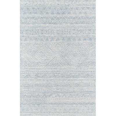 Vanhorn Handmade Wool Ivory/Light Blue Rug - Wayfair