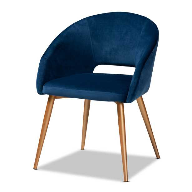 Vianne Glam and Luxe Dining Chair, Royal Blue - Lark Interiors
