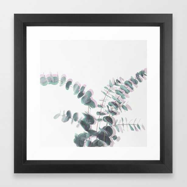 Eucalyptus Shadows Ii Framed Art Print by Cassia Beck - Vector Black - X-Small-12x12 - Society6