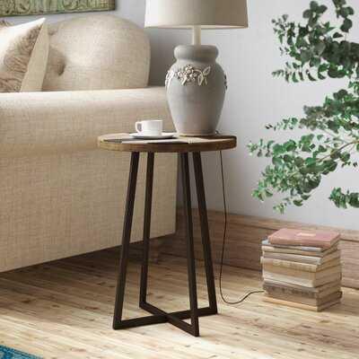 Tisbury Solid Wood Cross Legs End Table - Wayfair