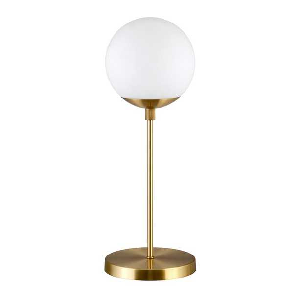 Hudson&Canal Elias 21 in. Brass Globe Table Lamp - Home Depot