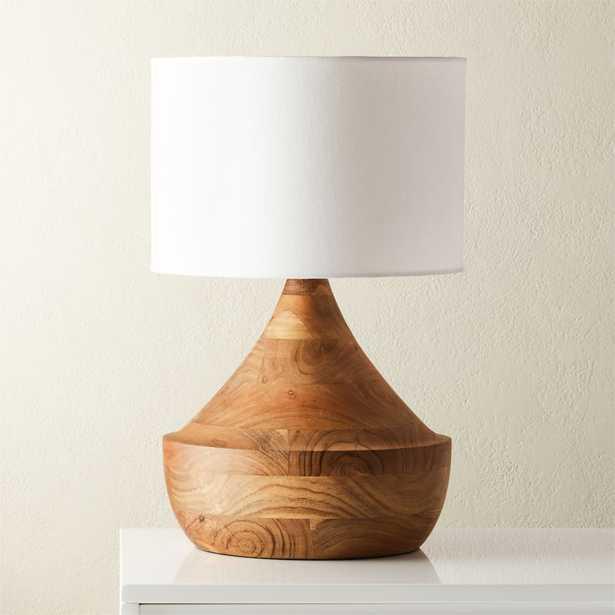 Atlas Natural Wood Table Lamp - CB2