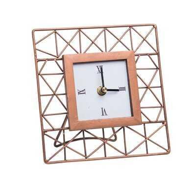 Mini Geometric Clock - Wayfair