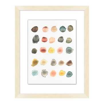Watercolor Dots 2 Painting, Bright, Small - West Elm
