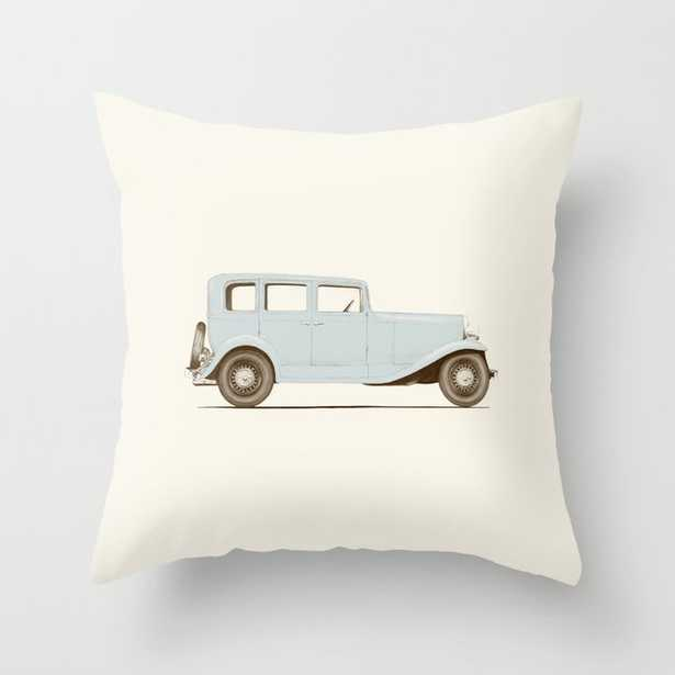 """Car Of The 1930's Couch Throw Pillow by Florent Bodart / Speakerine - Cover (20"""" x 20"""") with pillow insert - Indoor Pillow - Society6"""