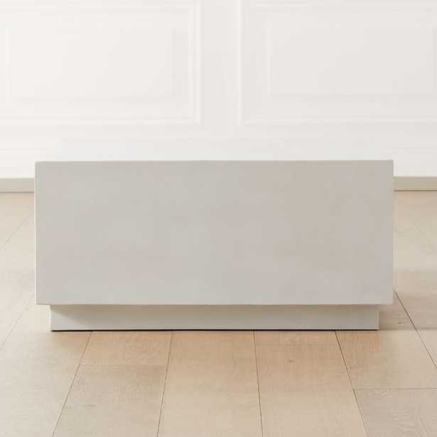 Mattery Ivory Cement Square Coffee Table - CB2